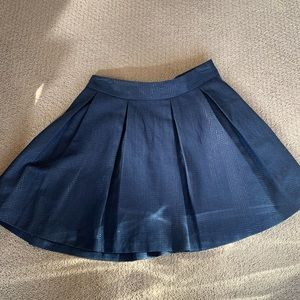 Banana Republic navy blue skater skirt size 0P